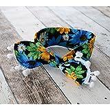 Banda ancha para atar, diseño tropical, color azul