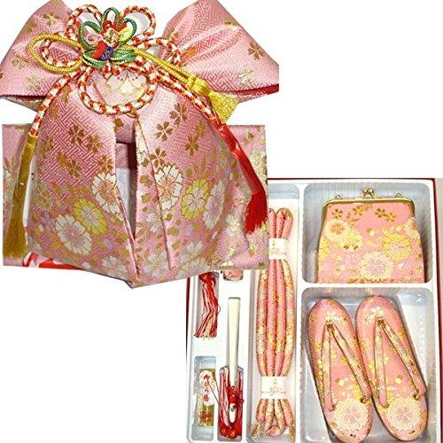 七五三 絵羽柄結び帯はこせこセット 3サイズ6色/S(3歳用16.5cm) ピンク