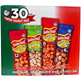 Frito Lay Sabritas Cacahuates Peanuts Mix (Box 30 / 1.625-Ounce Bags) Flamin' Hot, Salt & Lime, Picante Spicy, Japanese Style Peanuts