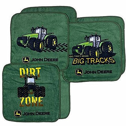 John Deere 6 Piece Washcloth Set - 1