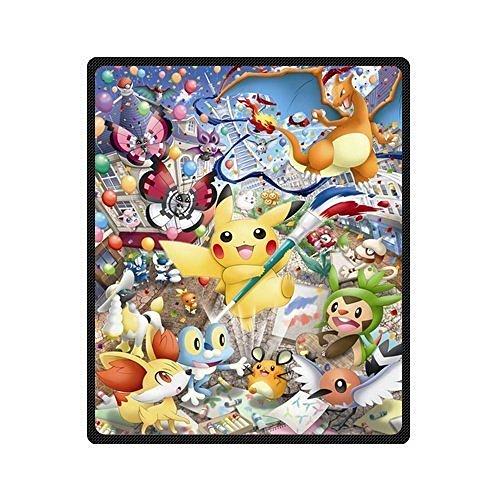 Creative coperta Pokemon Pikachu sofe letto/divano coperta in pile lenzuolo copriletto Bedding sofe letto/divano coperta in pile-coperta coperta da viaggio per interni/esterni 147,3x 203,2cm Large