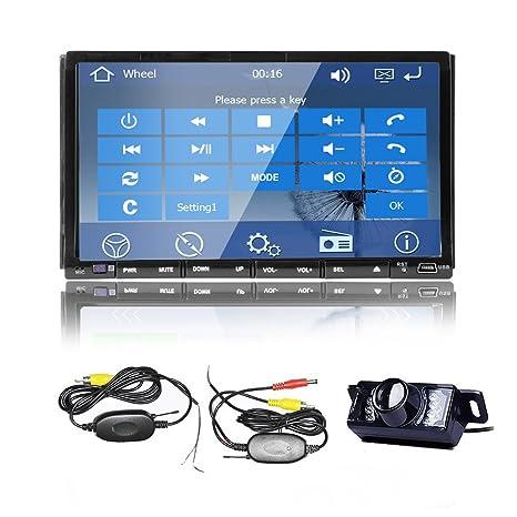 Electrš®nica WinCE 8 OS Modelo RDS 7 pulgadas de doble DIN en el tablero de CD estšŠreo Bluetooth satšŠlite GPS del coche Lecteur DVD, navegaciš®n MP3 Bluetooth y 2DIN un mapa de gratuito GPS coche de la p