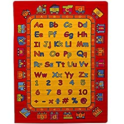 Paradise ABC Learning Rug 3 ft 3 in x 4 ft 10 in - Non Slip Bottom