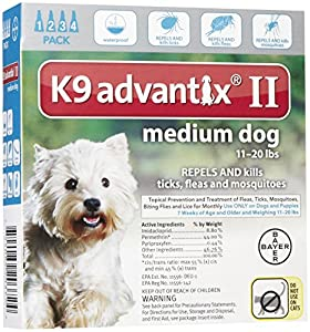 K9 Advantix II Medium Dog 4-Pack