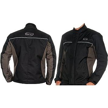 CT «monaco veste de moto taille s (noir/gris-imperméable et coupe-vent-éléments réfléchissants de sécurité