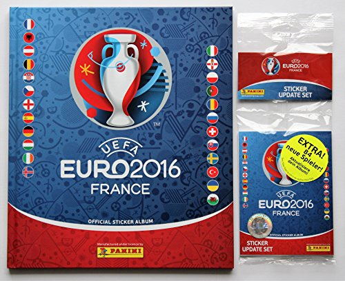 Panini EURO 2016 France - hardcover deluxe album + set updates 84 autocollants