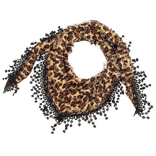 Leopard Animal Print Scarf (Brown)