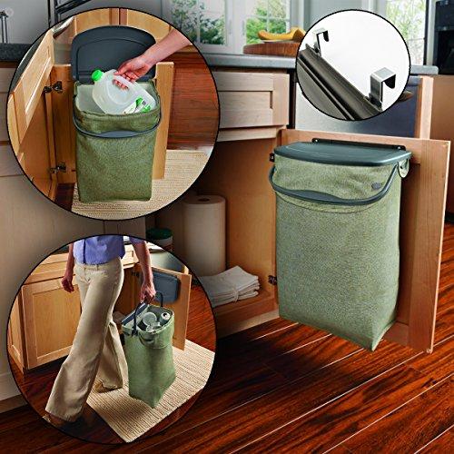 rubbermaid hidden recycler over the door under cabinet recycle waste bin bag hardware hardware. Black Bedroom Furniture Sets. Home Design Ideas
