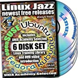 Linux Jazz, 6-disks DVD Set, 64-bit Version (Includes Ubuntu 11.04, Kubuntu 11.04, openSUSE 11.4, Fedora 15) Installation and Reference Set
