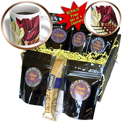 PS Vintage - Vintage Tulip Flowers - Coffee Gift Baskets - Coffee Gift Basket (cgb_203816_1)