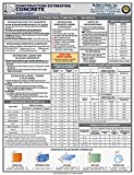 Concrete Construction Estimating: Laminated Quick-Card - Full-Color, 6-page - 1889892556