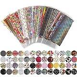 Nail Sticker - 52 Sheet 20cm4cm Mix Color Transfer Foil Nail Art Flower Design Sticker Decal For Polish Care Diy Nail Art Wy209