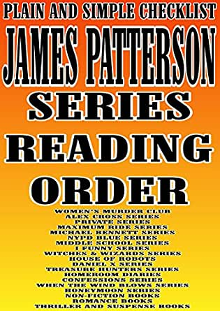 patterson james series order michael funny cross alex reading private books bennett checklist murder club maximum ride middle amazon kindle