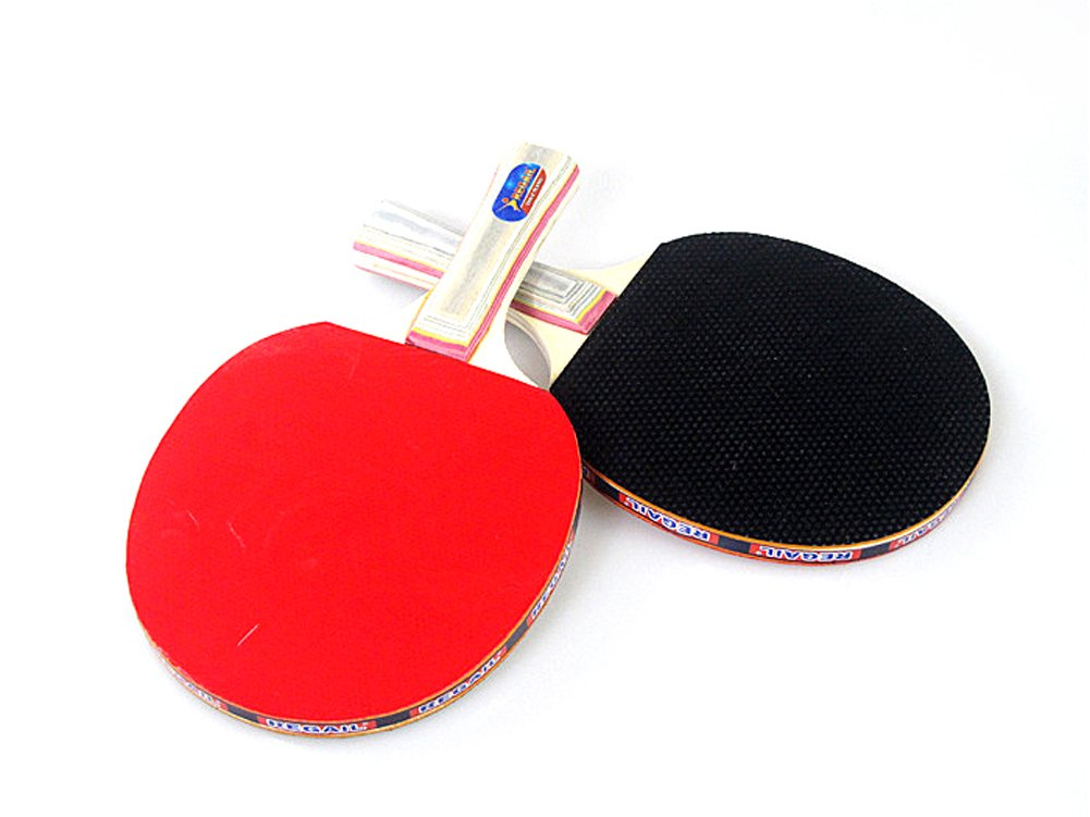 1 Pair Pingpong Paddle Students Table Tennis Racket Long Handle inverted rubber Horizontal Grip pro table tennis pingpong combo racket ritc 729 v 6 with 2x ritc 729 new cream rubbers long shakehand fl