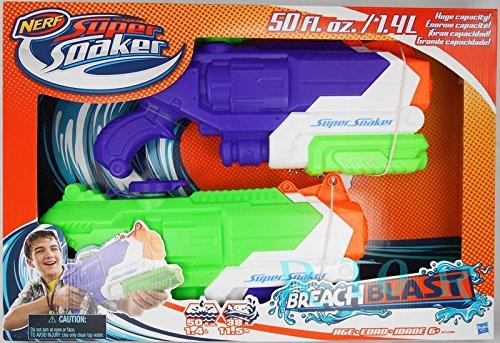 NERF 2丁セット 【SUPER SOAKER BREACH BLAST ハイパワー水鉄砲×2個 】 水鉄砲バトル/ナーフ