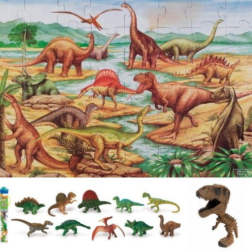 Cheap Bundles of Fun Melissa & Doug Dinosaurs Floor Puzzle with Dino Toob Bundle of 3 Items with **BONUS** by Bundles of Fun (B0052AI4EC)