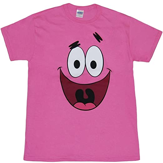 Sponge: Patrick Star Face T-Shirt-Large