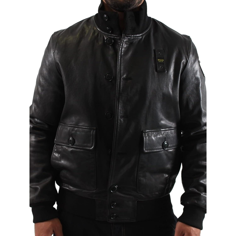 BLAUER Herren Lederjacke CAPOSPALLA PELLE BLU0898 in Schwarz günstig kaufen