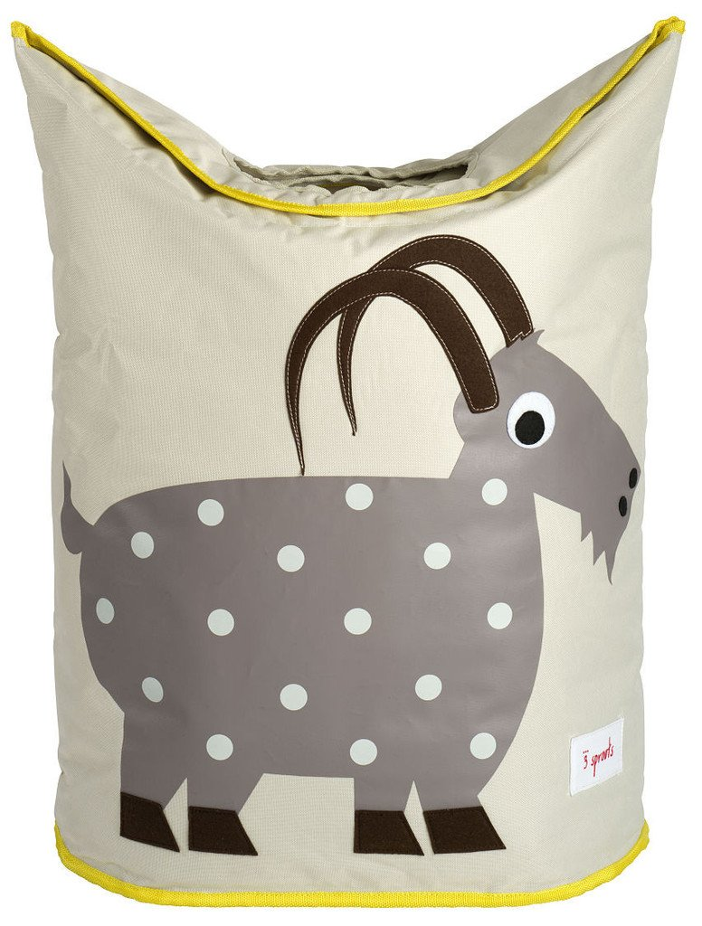 3 Sprouts Laundry Hamper, Goat