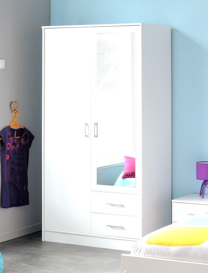 Kleiderschrank Inaco weiß 88x181x50 cm Schrank Schlafzimmerschrank Hochschrank Wandschrank Schlafzimmer jetzt bestellen