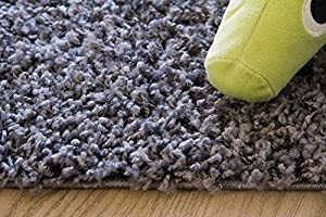 """Shaggy Rug Happy Soft Touch Grey / Silver Non Shedding High Pile Area Rug, Size 65x130 cm (2'2""""x4'3"""") by Steffensmeier"""