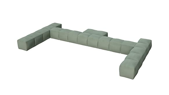 Pigro Felice 921989-OGREEN Modul'Air Luxury Inflatable Double Top Backrest Piscina Galleggianti, Verde Oliva