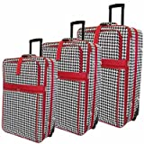 Vacation 3 Piece Luggage Set Color: Red