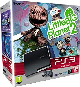 Sony PlayStation 3 Slim Console (320 GB Model) with LittleBigPlanet 2 Game