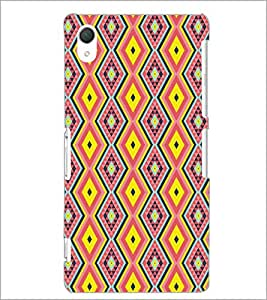 PrintDhaba Pattern D-5224 Back Case Cover for SONY XPERIA Z3 (Multi-Coloured)