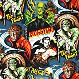 Robert Kaufman Horror Movie Monsters Midnight, 44-inch (112cm) Wide Cotton Fabric Yardage