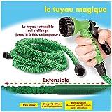 ProBache - Tuyau d'arrosage extensible 30 m canada green + pistolet 7 fonctions