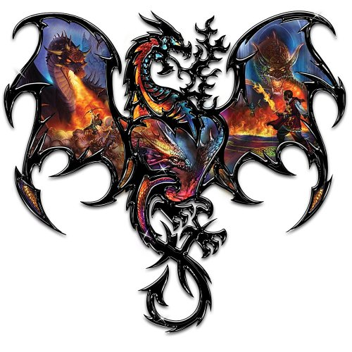 Wall Pediments The Epic Battle Dragon Wall Decor With