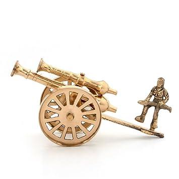 little india brass rajasthani canon handicraft home decor 147 brown - Amazon Home Decor