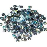 Pack of 1000 x Crystal AB Flat Back Rhinestone Diamante Gems 5mm