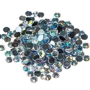 Pack of 1000 x Crystal AB Flat Back Rhinestone Diamante Gems 4mm