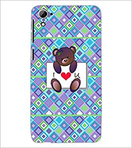 PrintDhaba Love D-4310 Back Case Cover for HTC DESIRE 826 (Multi-Coloured)