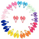 YHXX YLEN 20Pcs Small Baby Hair Bows Ribbon Clips for Girls Toddlers Kids (747 10 pairs) (Color: 747 10 Pairs, Tamaño: Small)