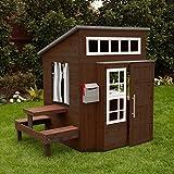 KidKraft Modern Outdoor Espresso Playhouse