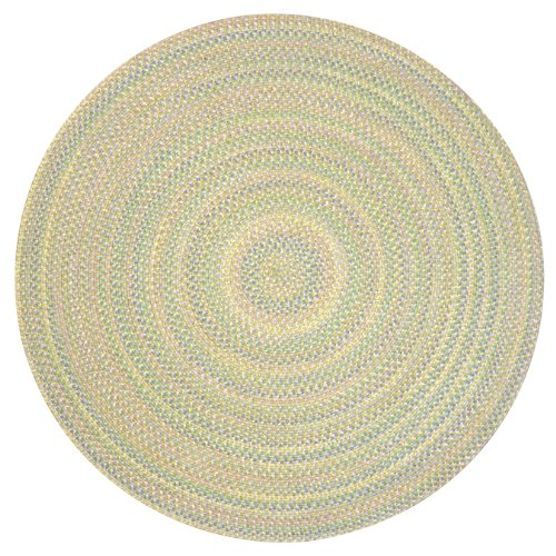 ITM Tropical Delight Braided Indoor/Outdoor Rug, 6-Feet Round, Sand