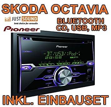 Skoda octavia 1Z noir-pioneer fH-x720BT d'autoradio 2 dIN avec bluetooth uSB