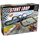 Electric Power Stunt Loop Road Racing Set, Includes 2 Mustang Racers With Headlights