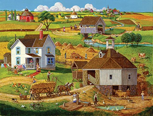 Bringing in the Hay - 500 Piece Jigsaw Puzzle By Sunsout Inc.