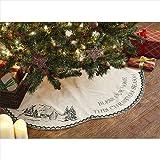 VHC Brands 21548 48 in. Timberland Christmas Tree Skirt