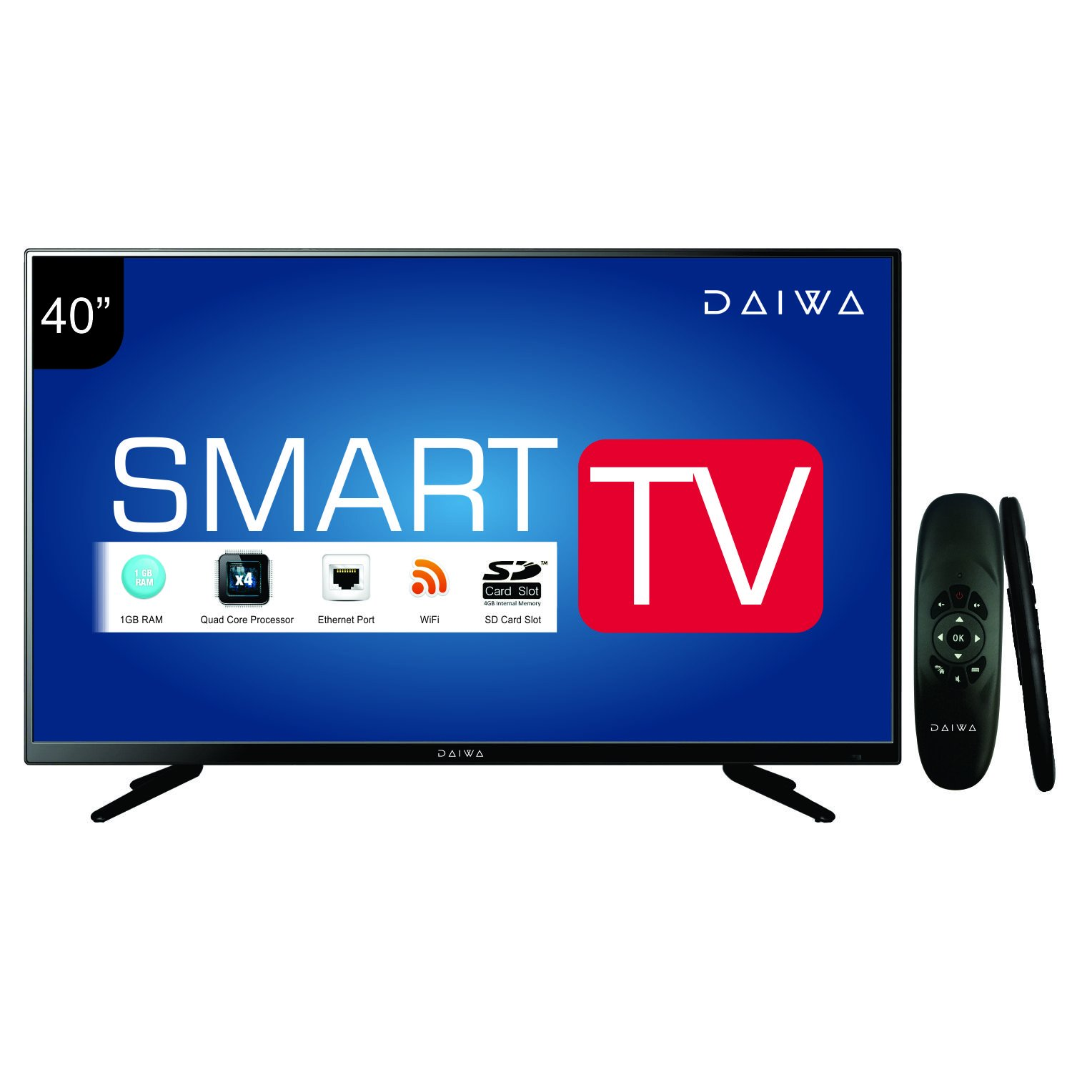 Daiwa D42C4S 40 Inch Smart Full HD LED TV (With Web Cruiser Remote)