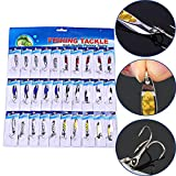 Sougayilang Spinner Spoon Fishing Lures and Baits Pack of 30pcs