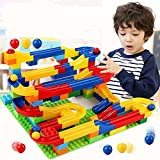 ビーズコースター くるくる ビー玉転がし ボリュームセット 123pcs レゴブロック兼用 3歳~ 幼児 子供 ラトルタワー 知育 おもちゃ By Baby Zone®