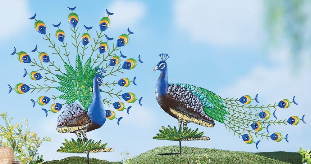 Peacock Garden Stakes - Set Of 2 моторное масло motul garden 4t 10w 30 2 л