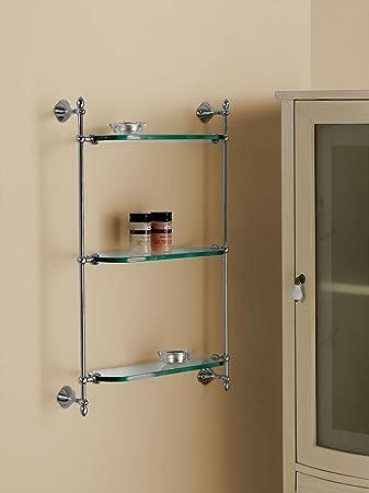 Suspendu en Verre H.65cm. L. 45cm. P. 15cm.Accessoires wC salle de bain Produit italien style classique