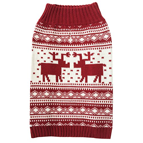 Blueberry pet dog clothes vintage reindeer - Blueberry pet vintage festive red christmas reindeer holiday festive