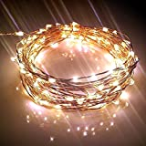 GRAND SALE, 63% Off Only TODAY! Starry String Lights w/ 120 Warm White LEDs on Copper Wire 20ft Long, Ultra-thin. Amazingly Bright New Generation of Micro LEDs for Indoor and Outdoor Use. You Can Create Mesmerizing Hanging Garlands for Events such as Weddings. Wrap Around Your Patio or Backyard Trees with our Led Wire Strings providing Wonderful Decorations for a Dancing Party this Christmas. Add a String or More to your Teens' Bedrooms Tinging them with a Light Fairy Looks, and Make them love their play or study area! - Our Highest Quality Strings Lights Bring an Elegant Touch to Your Home All Year Around, Night and Day + 110/220V Power Adaptor (100% Guarantee)
